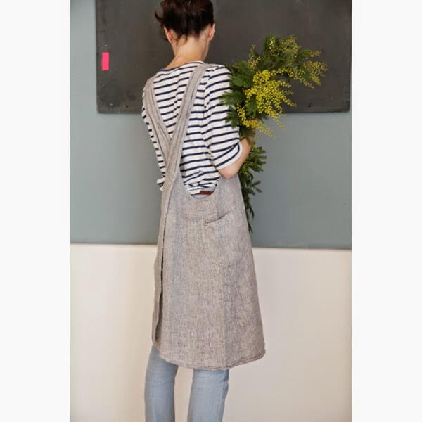 linen apron - linen craft