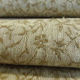 Linum Natural Linen Damask Fabric