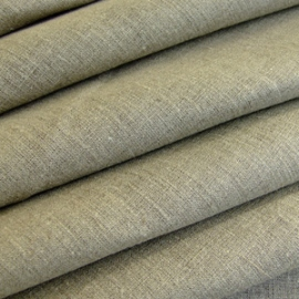 Natural Plain Linen Fabric Prewashed