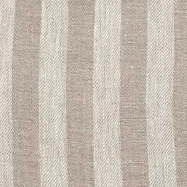 Lucas Natural Striped Linen Fabric Sample