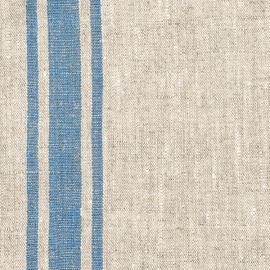 Natural Blue Linen Fabric Provance Prewashed
