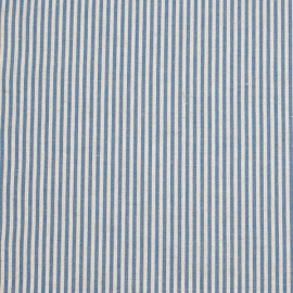 Fabric Sample Blue Striped Linen Jazz