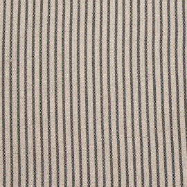 Beige Striped Linen Fabric Sample Jazz