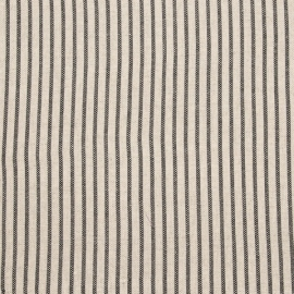 Fabric Sample Black Striped Linen Jazz