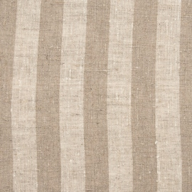 Linen Fabric Washed Stripe Natural
