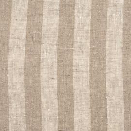 Linen Fabric Stripe Natural