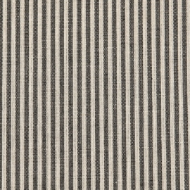 Linen Fabric Washed Jazz Natural Black
