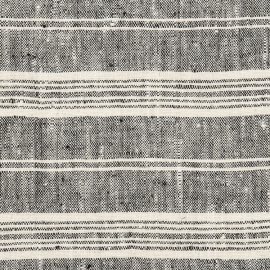 Black White Linen Fabric Sample Multistripe