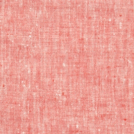 Fabric Prewashed Red Linen Francesca
