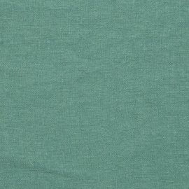Linen Fabric Sample Moss Green Stone Washed