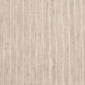Linen Fabric Natural Off White Pinstripe