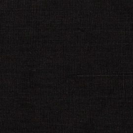 Linen Fabric Washed Black Terra