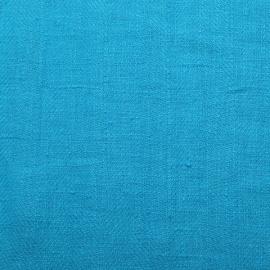 Linen Fabric Sample Turquoise Lara