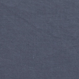 Linen Fabric Washed Blueberry Stone Washed