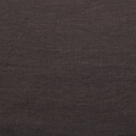 Linen Fabric Plum Kitten Stone Washed