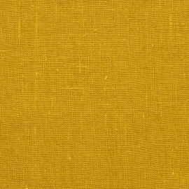 Linen Fabric Washed Citrine Terra