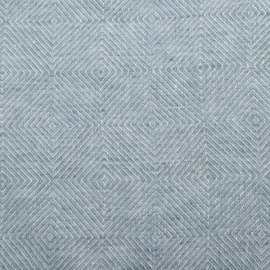 Linen Fabric Washed Stone Blue Stone Washed Rhomb
