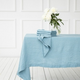 Linen Fabric Sample Stone Blue Stone Washed