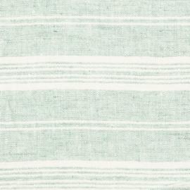 Linen Fabric Mint Multistripe