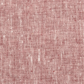 Linen Fabric Washed Cherry Francesca