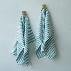 Linen Fabric Marine Blue Brittany Prewashed