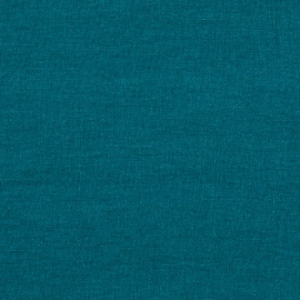 Marine Blue Linen Fabric Sample Stone Washed