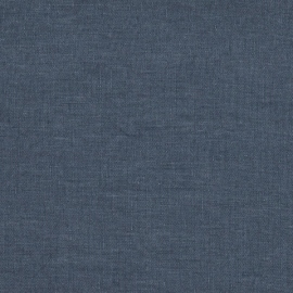 Indigo Linen Fabric Sample Stone Washed