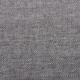 Linen Fabric Sample Stone Washed Herringbone Grey