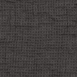 Linen Fabric Sample Waffle Grey