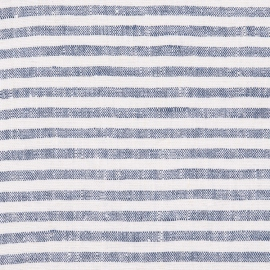 Linen Fabric Dark Blue Brittany Prewashed