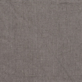 Linen Fabric Washed Terra Graphite