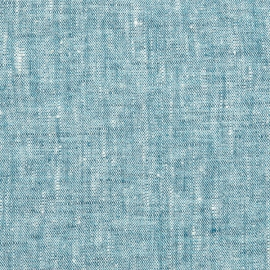 Linen Fabric Washed Marine Blue Francesca