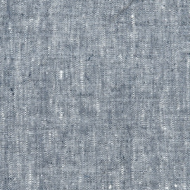 Linen Fabric Washed Indigo Francesca