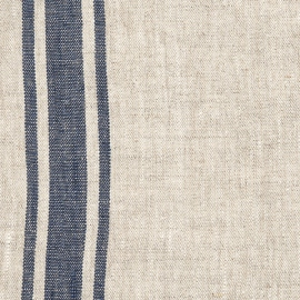 Linen Fabric Indigo Natural Provance