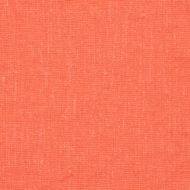 Linen Fabric Washed Terra Coral