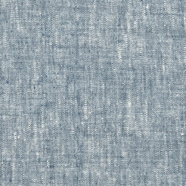 Linen Fabric Dark Blue Francesca