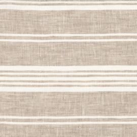 Beige Striped Linen Fabric Sample Jazz