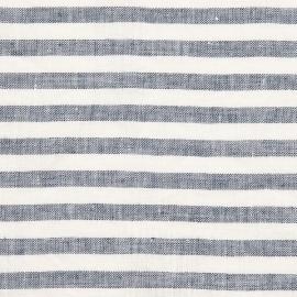 Linen Fabric Ticking Stripe Indigo