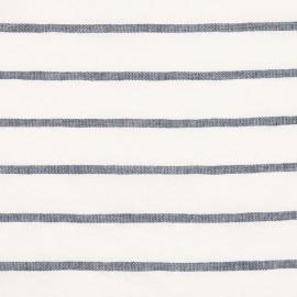 Linen Fabric Stripe Indigo
