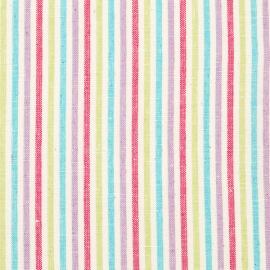 Linen Fabric Sample Stripe Multicolor