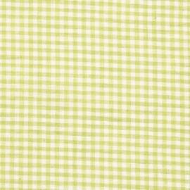 Linen Fabric Check Light Green