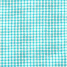 Linen Fabric Sample Check Light Green