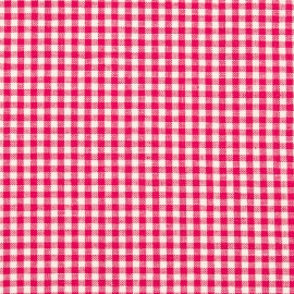 Linen Fabric Check Pink