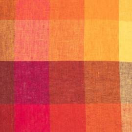 Fabric Sample Green  Linen Milano