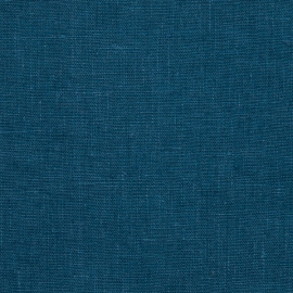 Linen Fabric Terra Marine Blue