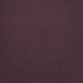 Linen Fabric Washed Upholstery Aubergine
