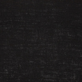 Linen Fabric Plain Black