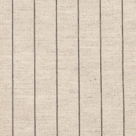 Linen Fabric Striped Natural