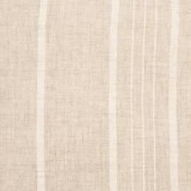 Linen Fabric Sample Stripe Beige