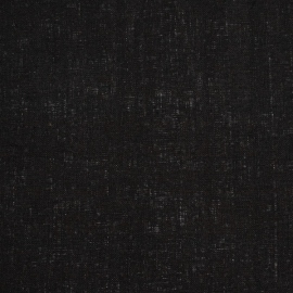 Linen Fabric Sample Plain Black